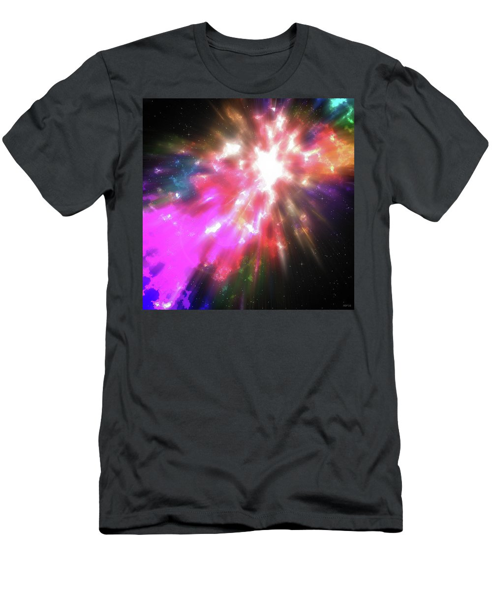 Cosmos Men's T-Shirt (Athletic Fit) featuring the digital art Colorful Cosmos by Phil Perkins