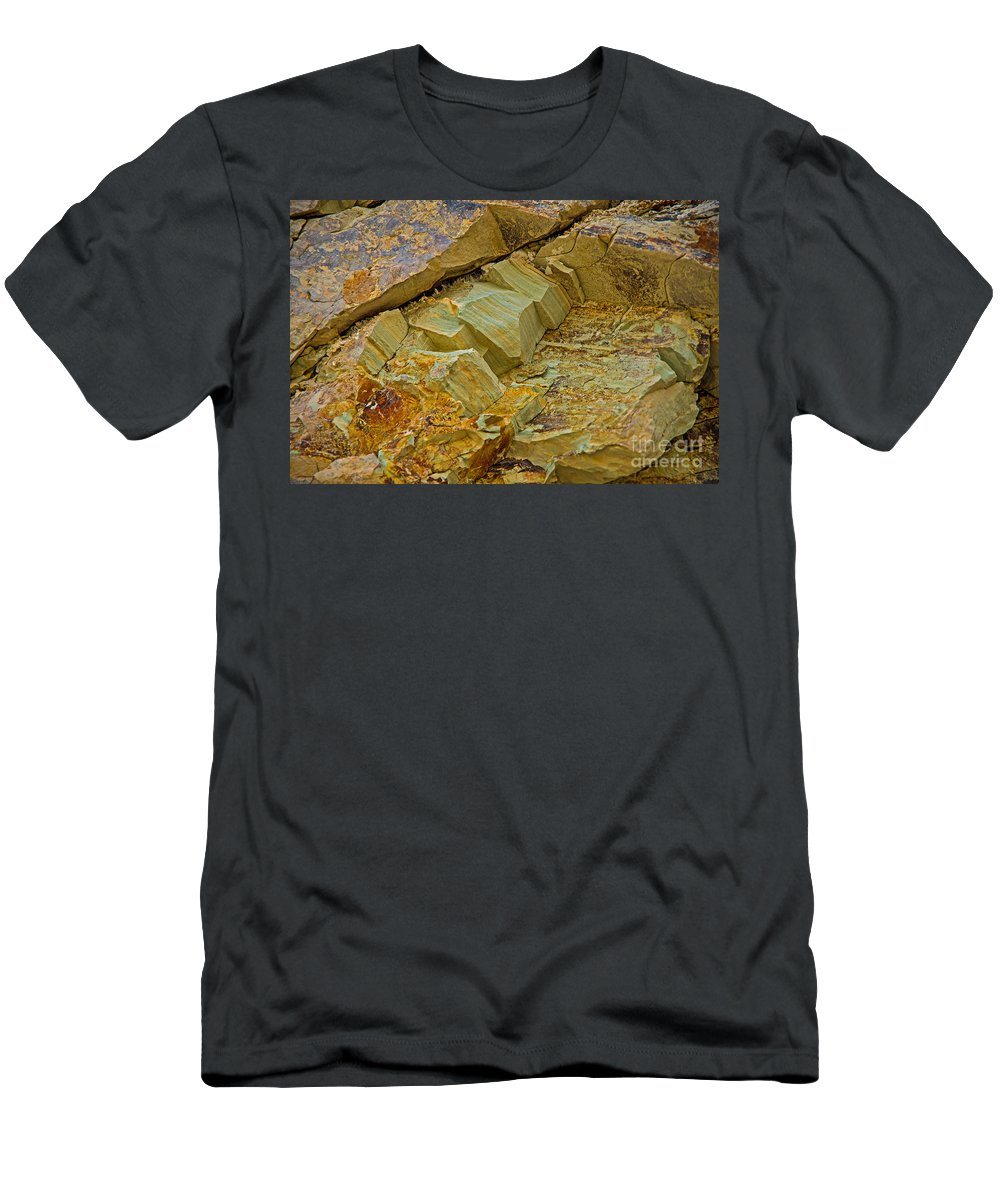 Rocks Men's T-Shirt (Athletic Fit) featuring the photograph Colorful Rocks by Stephen Whalen