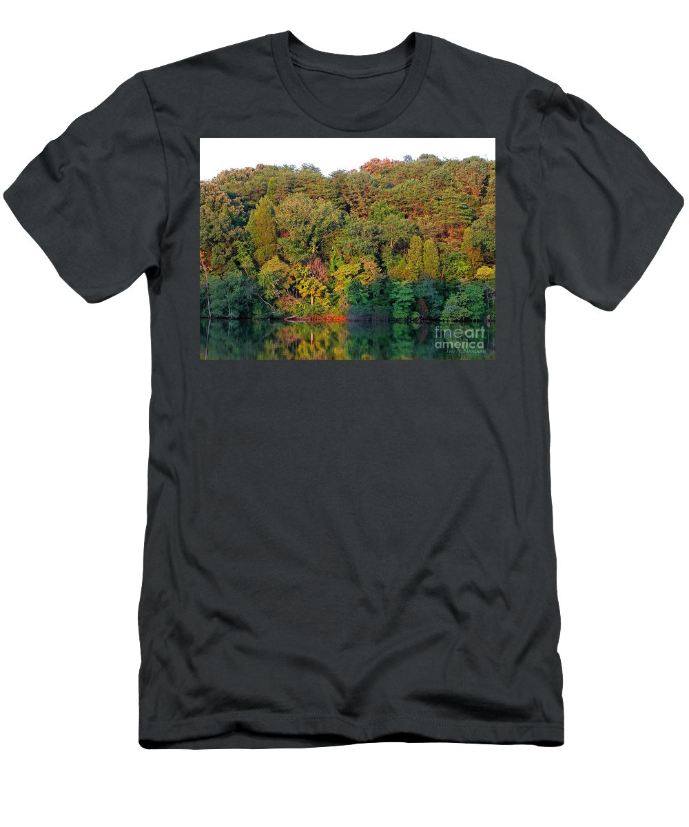 Landscape Men's T-Shirt (Athletic Fit) featuring the photograph Colorful Sunset by Todd Blanchard