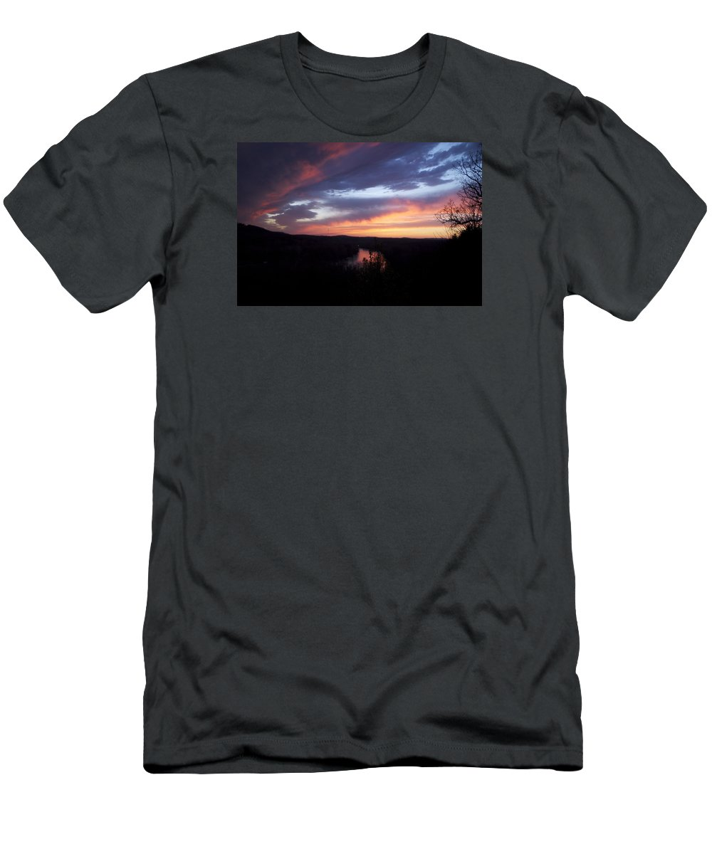 Blue Sunset T-Shirt featuring the photograph Colorful Sunset by Toni Berry