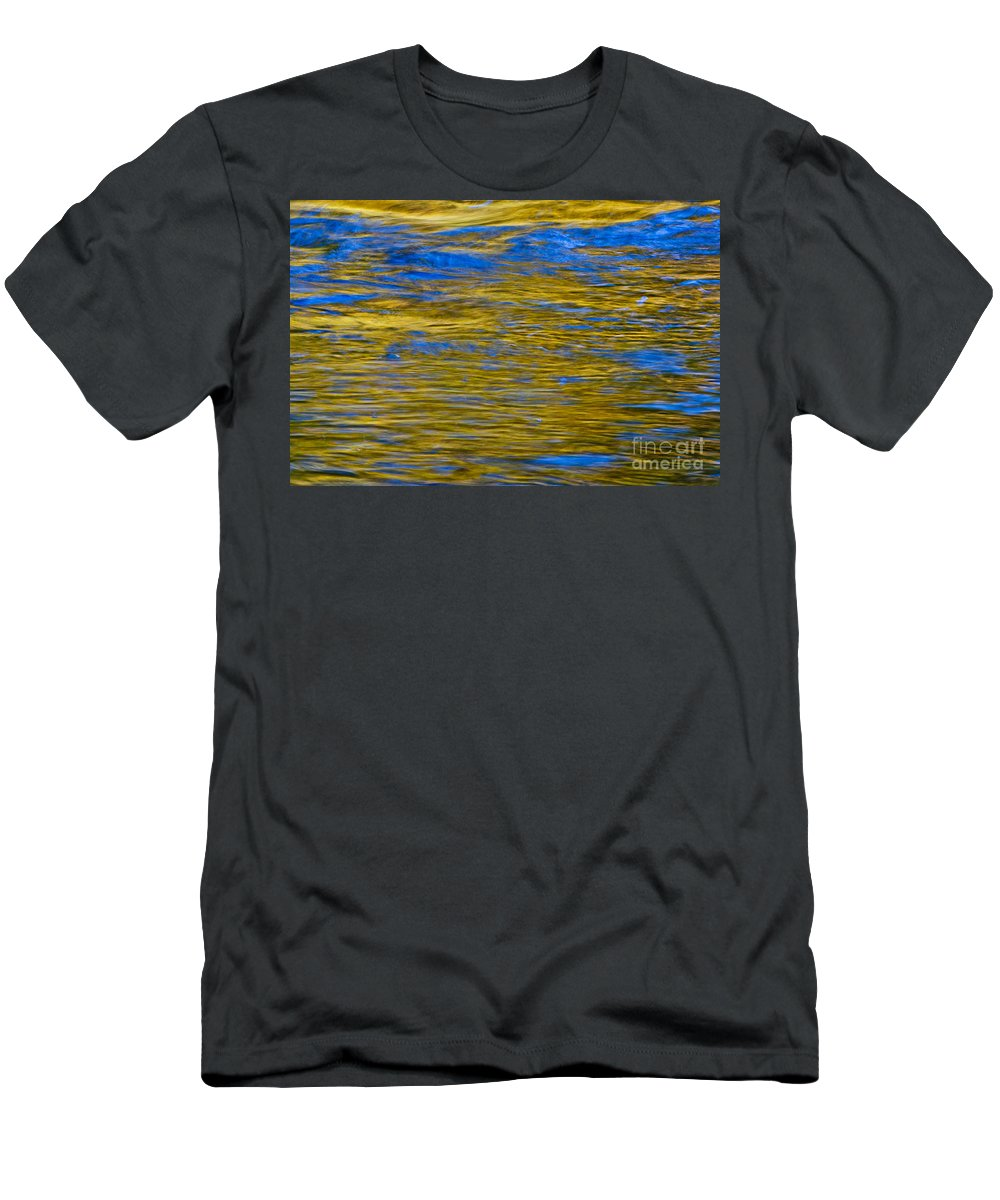 Abstract Men's T-Shirt (Athletic Fit) featuring the photograph Colorful Water Surface by Bill Brennan - Printscapes