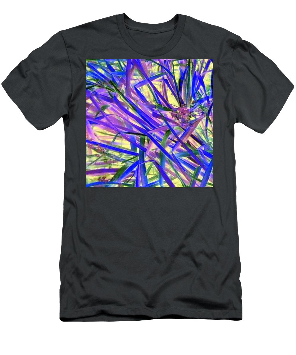 Blue Green Purple Negative Men's T-Shirt (Athletic Fit) featuring the photograph Colors by Cindy New