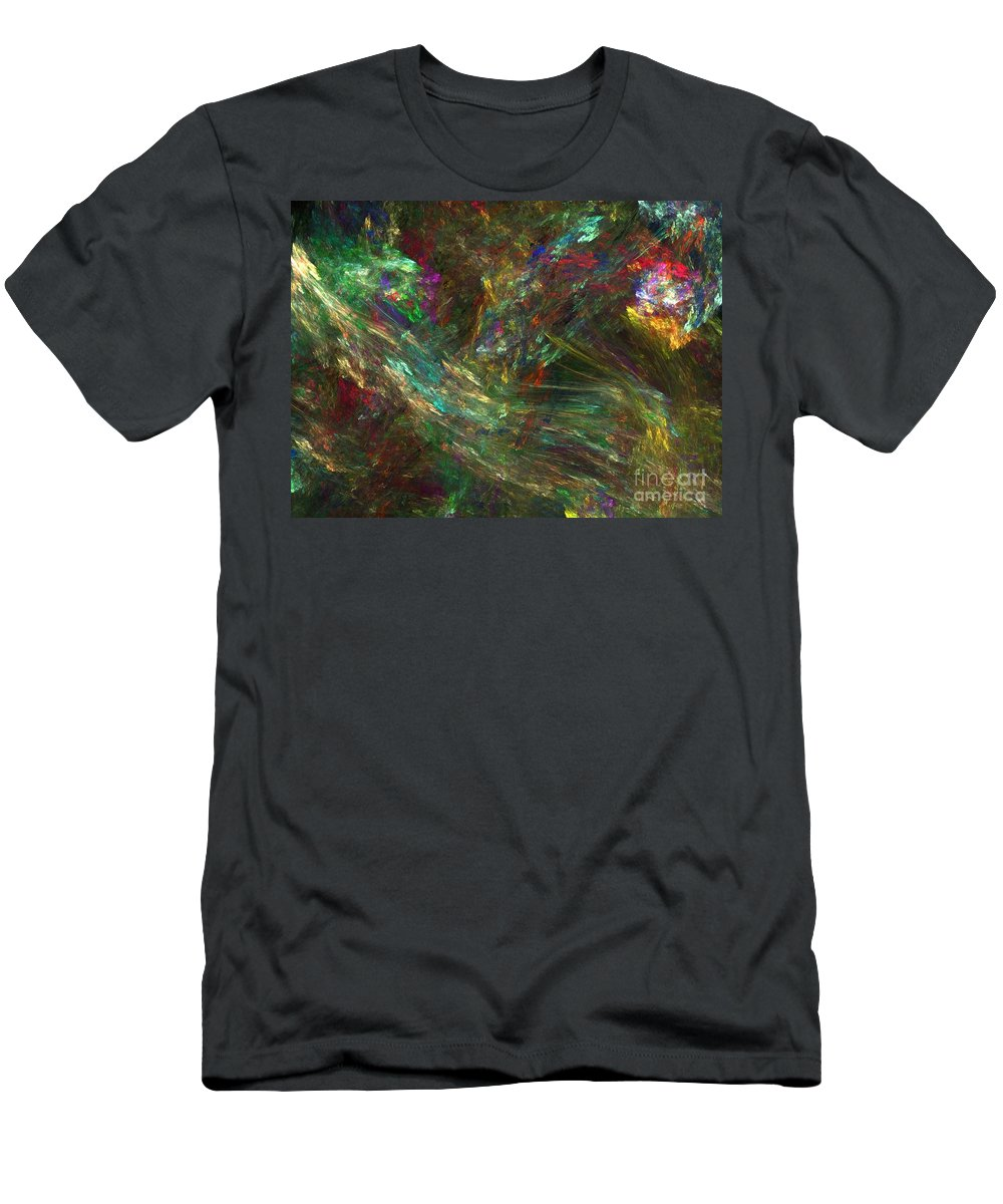 Fractals Men's T-Shirt (Athletic Fit) featuring the digital art Colors Of Light by Richard Rizzo