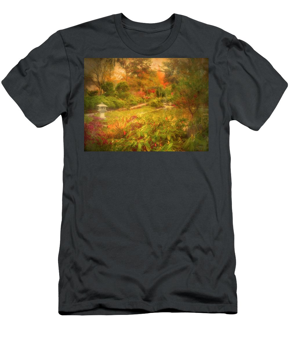 Autumn Men's T-Shirt (Athletic Fit) featuring the photograph Colour Explosion In The Japanese Gardens by Tara Turner