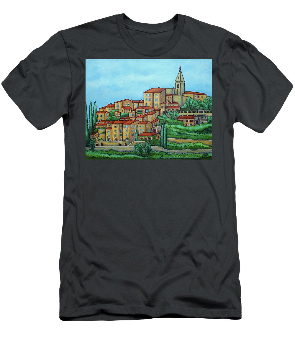 Provence T-Shirt featuring the painting Colours of Crillon-le-Brave, Provence by Lisa Lorenz