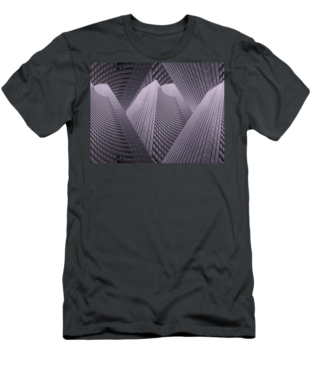 Seattle Men's T-Shirt (Athletic Fit) featuring the digital art Columbia Tower Seattle Wa 2 by Tim Allen