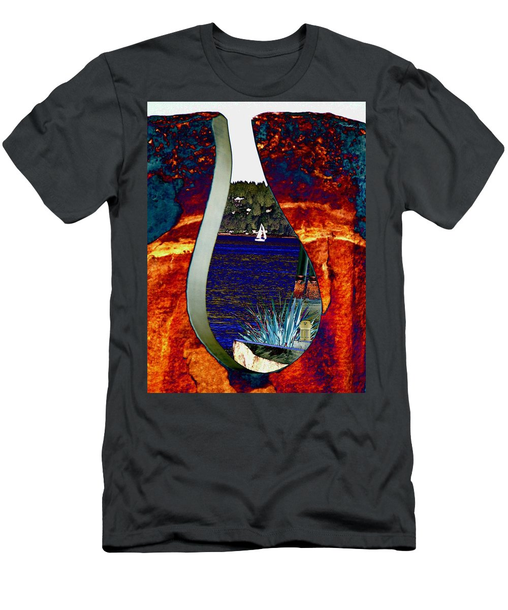 Bremerton Men's T-Shirt (Athletic Fit) featuring the photograph Come Sail Away by Tim Allen