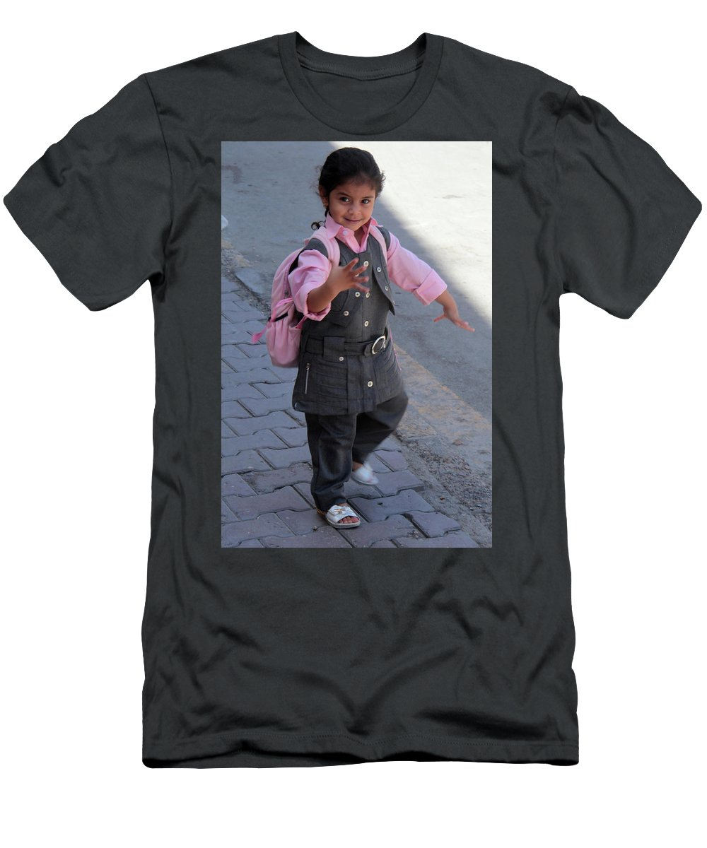 Jezcself Men's T-Shirt (Athletic Fit) featuring the photograph Comfortwalk by Jez C Self