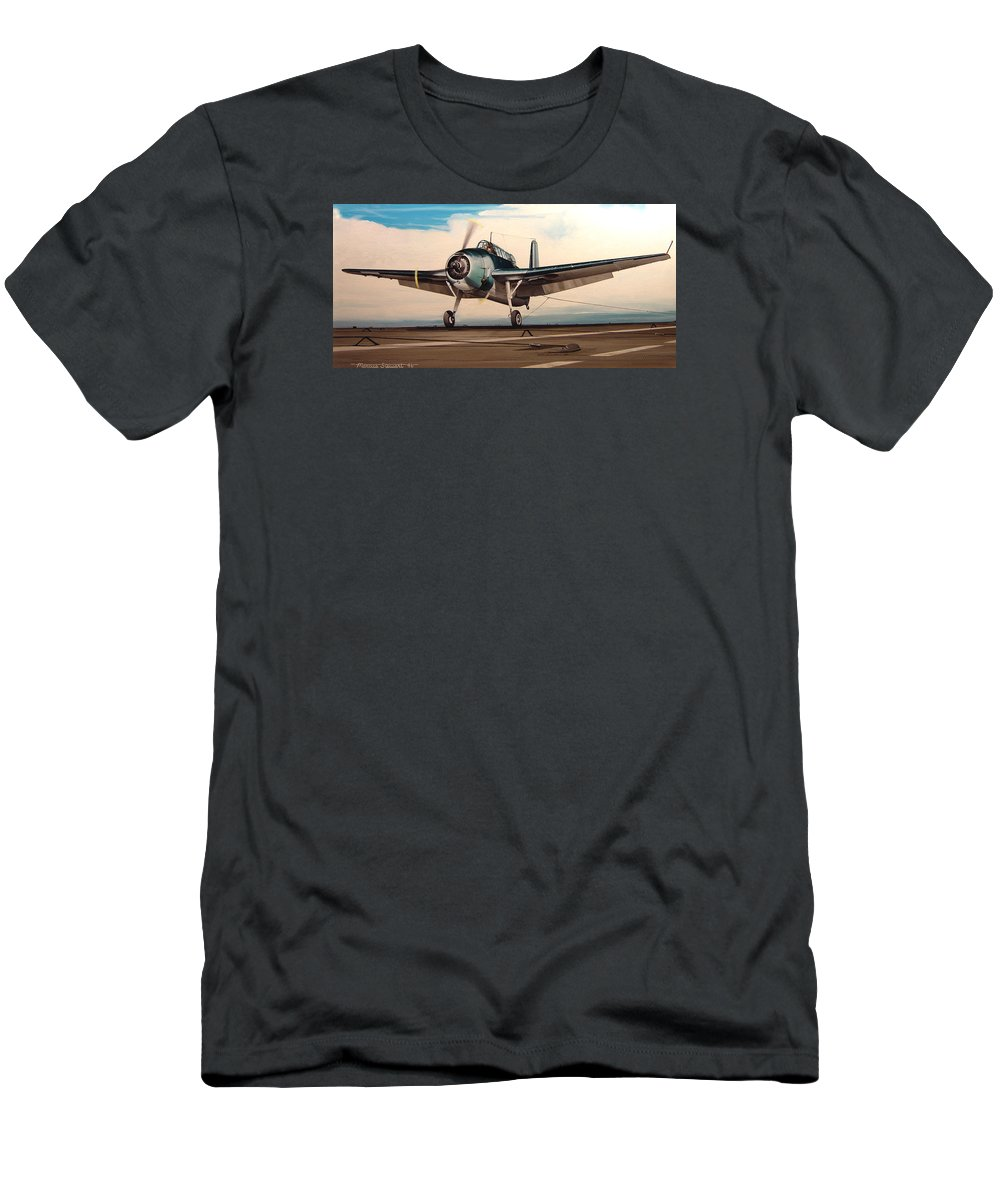 Painting T-Shirt featuring the painting Coming Aboard by Marc Stewart