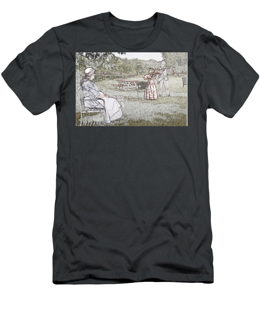 Concert Men's T-Shirt (Athletic Fit) featuring the digital art Concert by Robert Nelson
