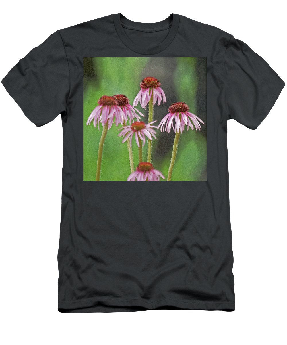 Flowers Men's T-Shirt (Athletic Fit) featuring the photograph Coneflowers by Ernie Echols