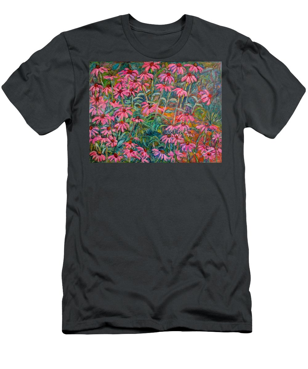 Kendall Kessler Men's T-Shirt (Athletic Fit) featuring the painting Coneflowers by Kendall Kessler