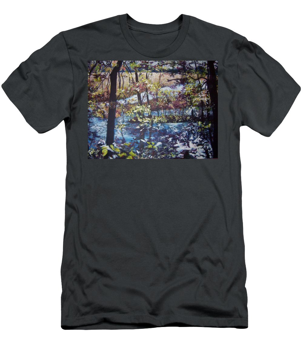 Landscape Men's T-Shirt (Athletic Fit) featuring the painting Confetti by Sheila Holland