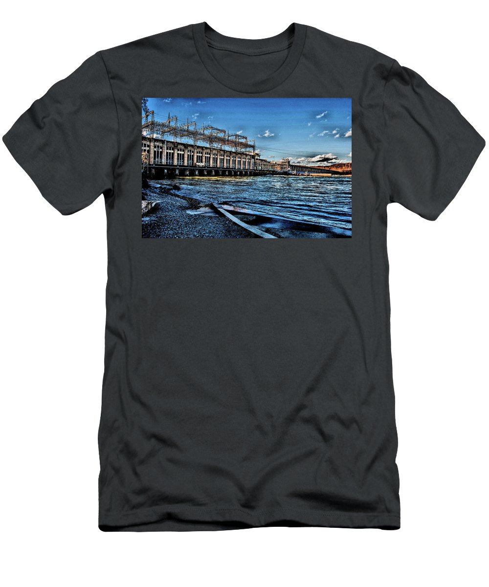 Conowingo Dam Men's T-Shirt (Athletic Fit) featuring the photograph Conowingo Dam, Susquehanna River, Maryland, 2017 by Wayne Higgs