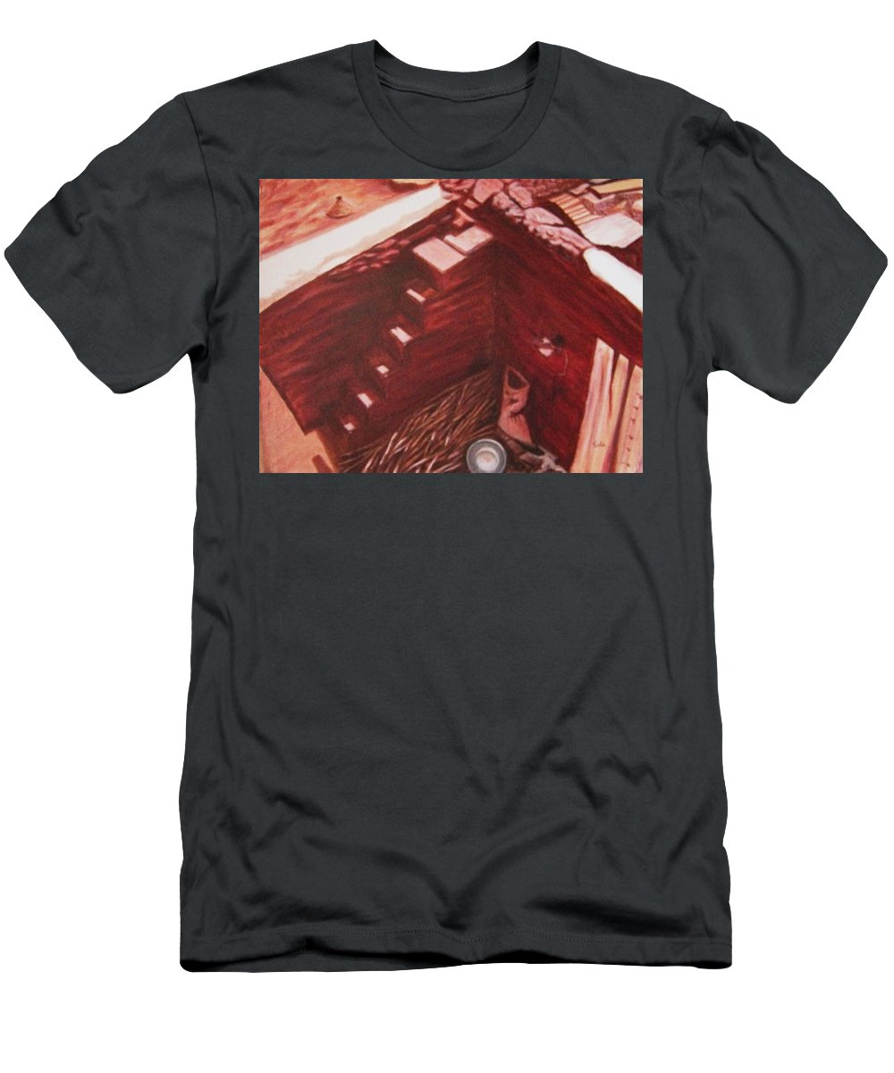 Construction Men's T-Shirt (Athletic Fit) featuring the painting Constuction Site 1 by Usha Shantharam