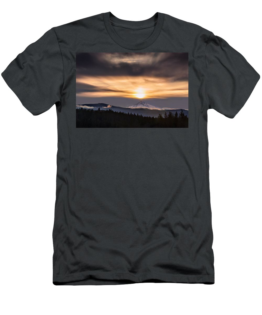 Mountain Men's T-Shirt (Athletic Fit) featuring the photograph Contact by John Christopher