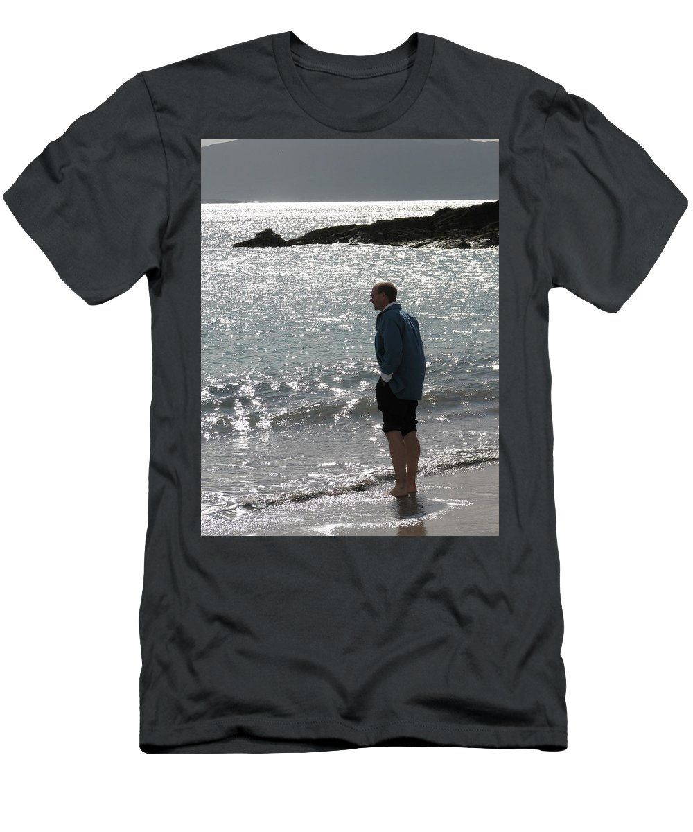 Beach T-Shirt featuring the photograph Contemplation by Kelly Mezzapelle
