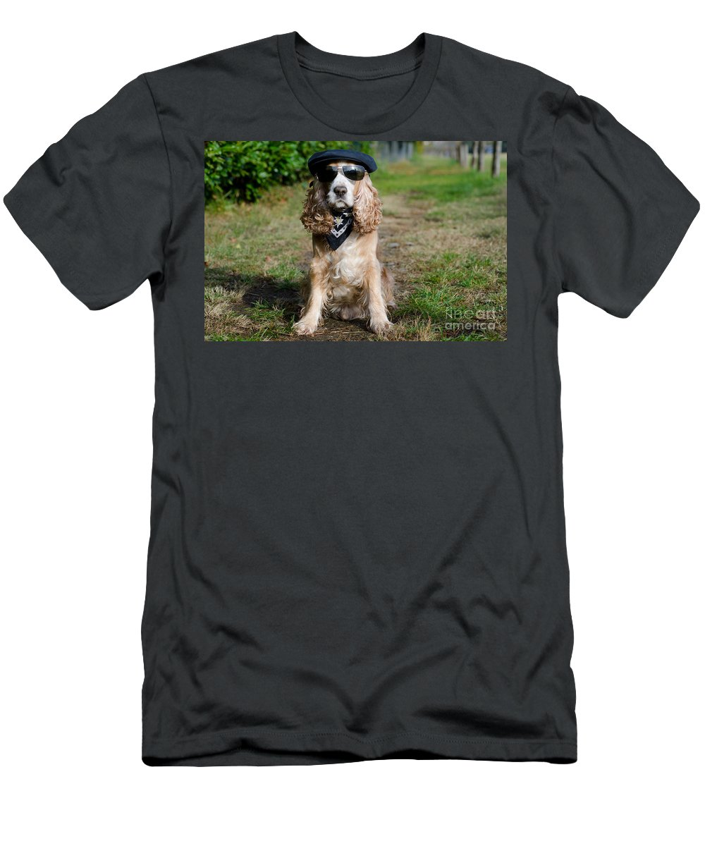 Dog Men's T-Shirt (Athletic Fit) featuring the photograph Cool Dog by Mats Silvan