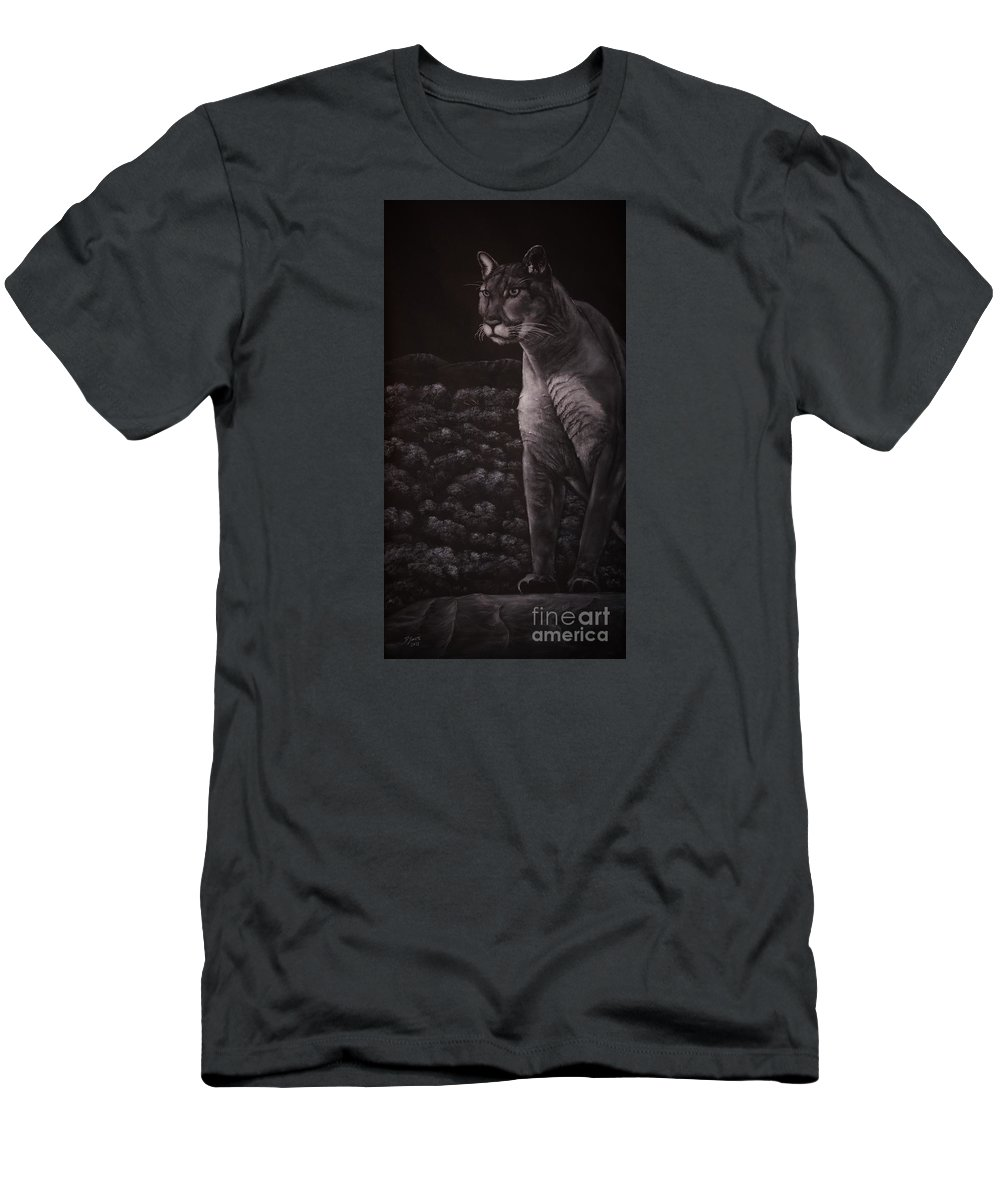 Puma Men's T-Shirt (Athletic Fit) featuring the drawing Cool For Cats by David Swope