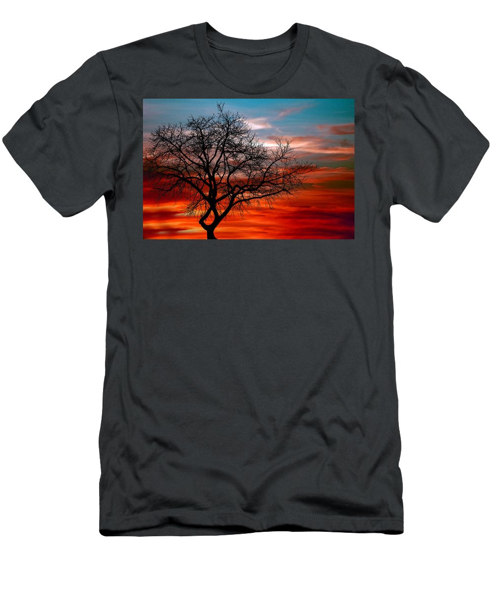 Photo Men's T-Shirt (Athletic Fit) featuring the photograph Cooling Down by Munir Alawi