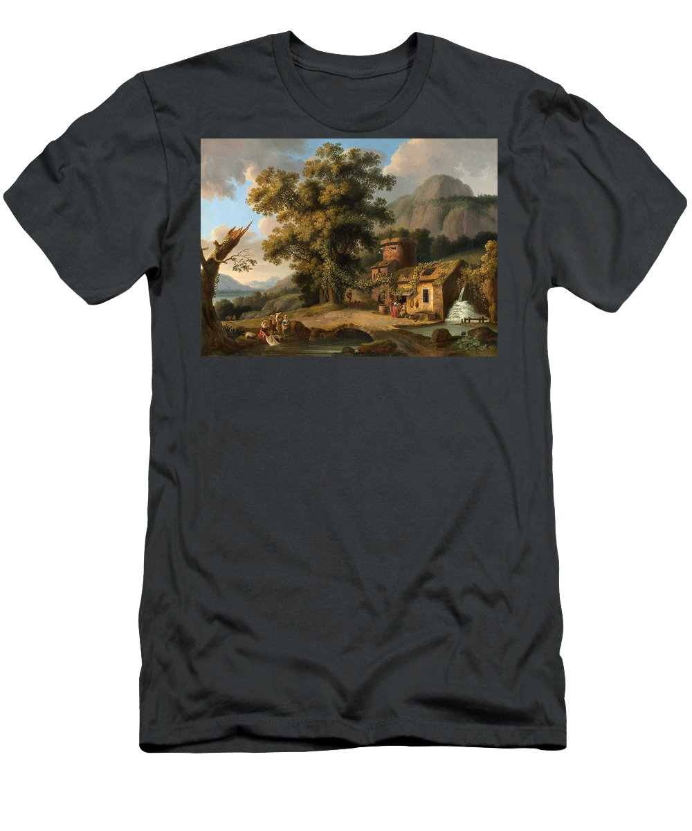 Landscape Men's T-Shirt (Athletic Fit) featuring the painting Copper Hammer Vietri by Celestial Images
