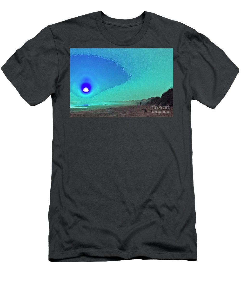 Cosmos Men's T-Shirt (Athletic Fit) featuring the digital art Cosmos Calling by Heidi Peschel