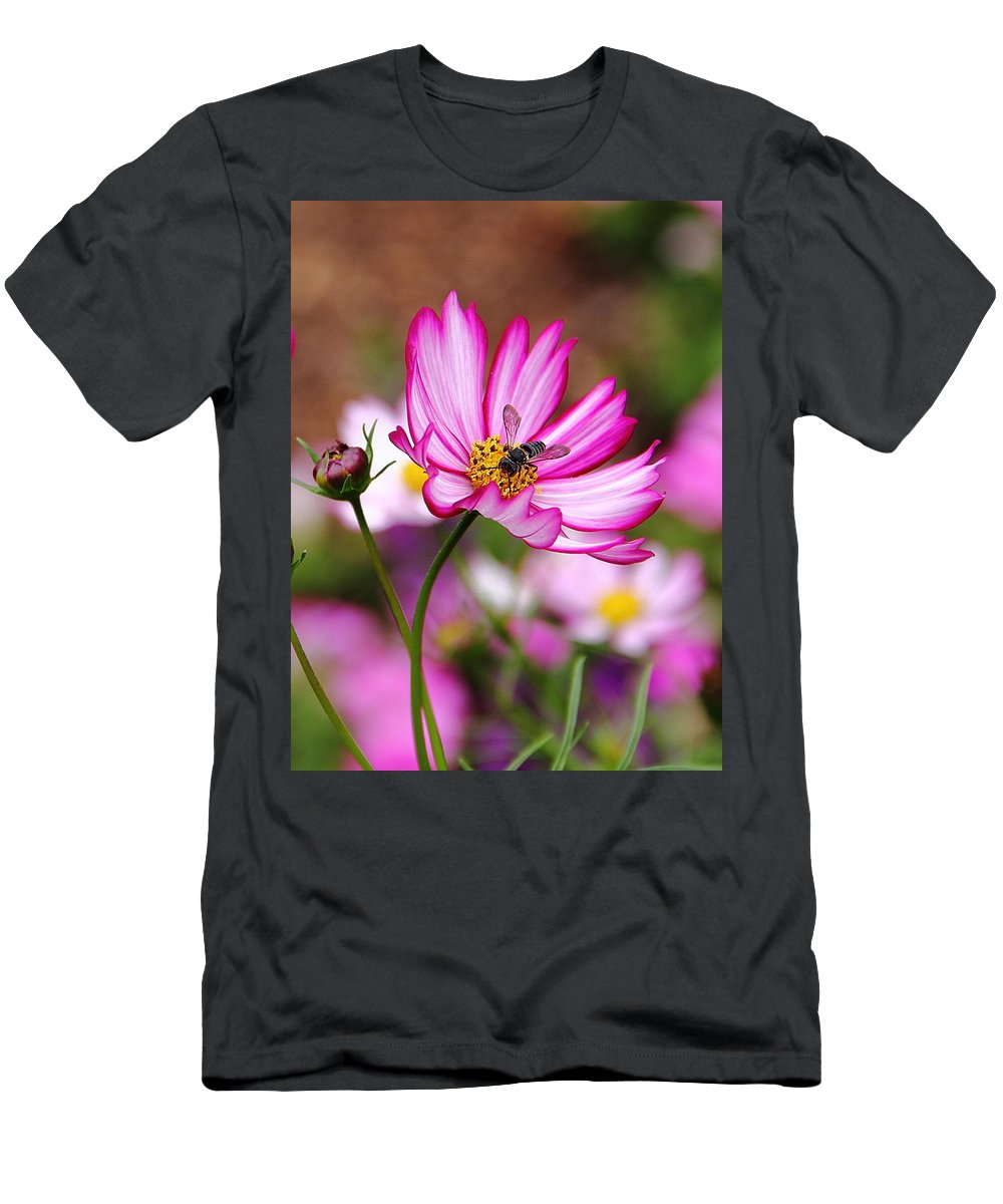 Cosmos Men's T-Shirt (Athletic Fit) featuring the photograph Cosmos Welcoming by Allen Nice-Webb