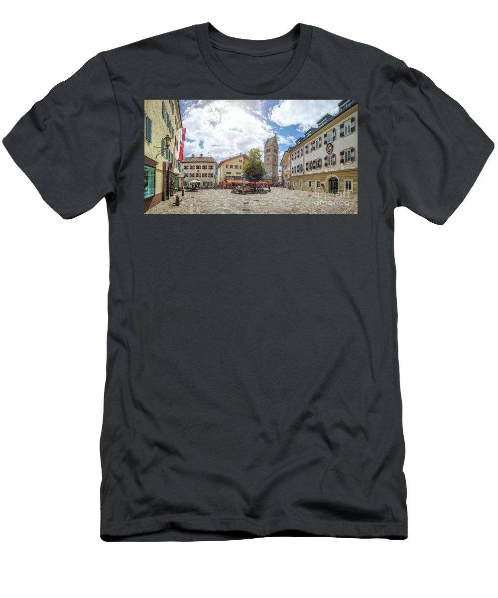 Alpine Men's T-Shirt (Athletic Fit) featuring the photograph Cosy Old Mountain Village by JR Photography