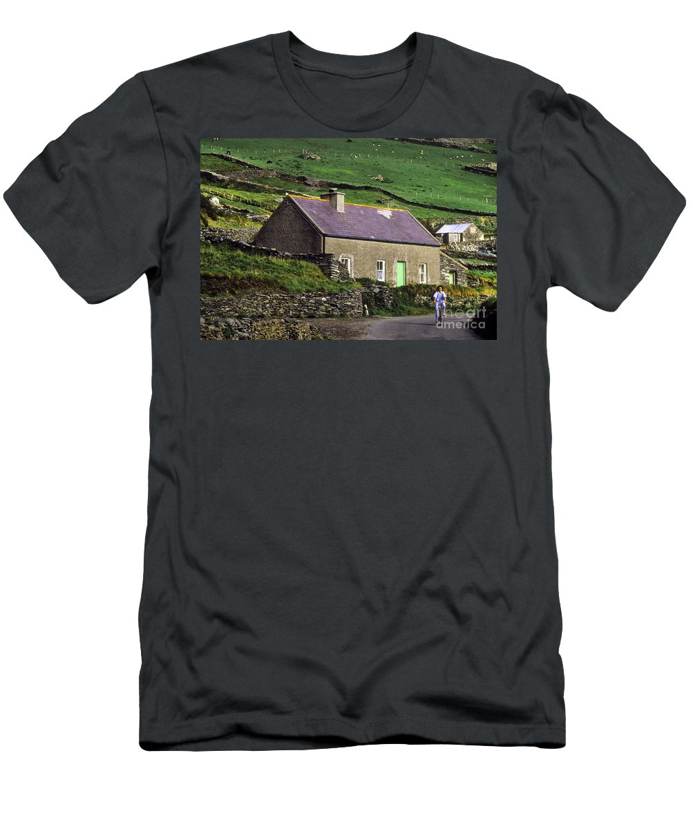 Europe Men's T-Shirt (Athletic Fit) featuring the photograph Country Biker by John Greim