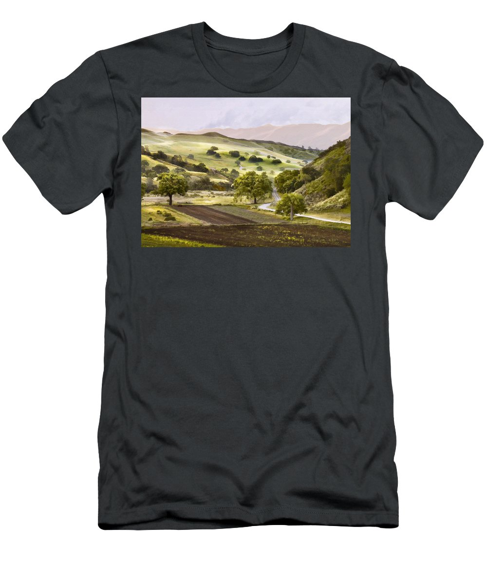 California Men's T-Shirt (Athletic Fit) featuring the digital art Country Morning by Sharon Foster