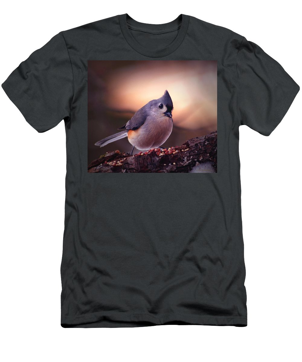 Birds Men's T-Shirt (Athletic Fit) featuring the photograph Country Mouse... by Arthur Miller