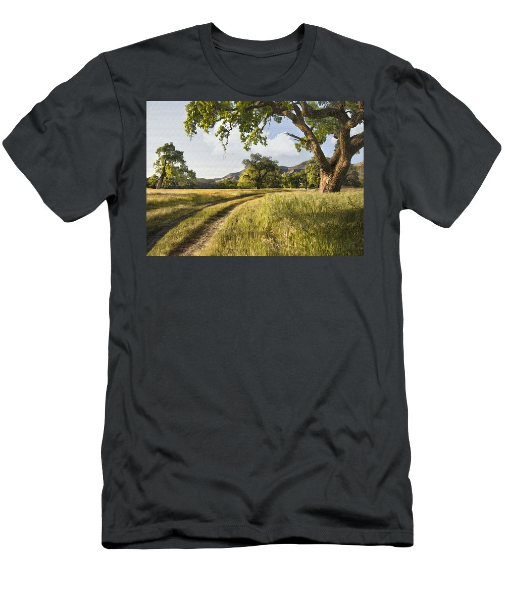 Landscape Men's T-Shirt (Athletic Fit) featuring the digital art Country Road by Sharon Foster