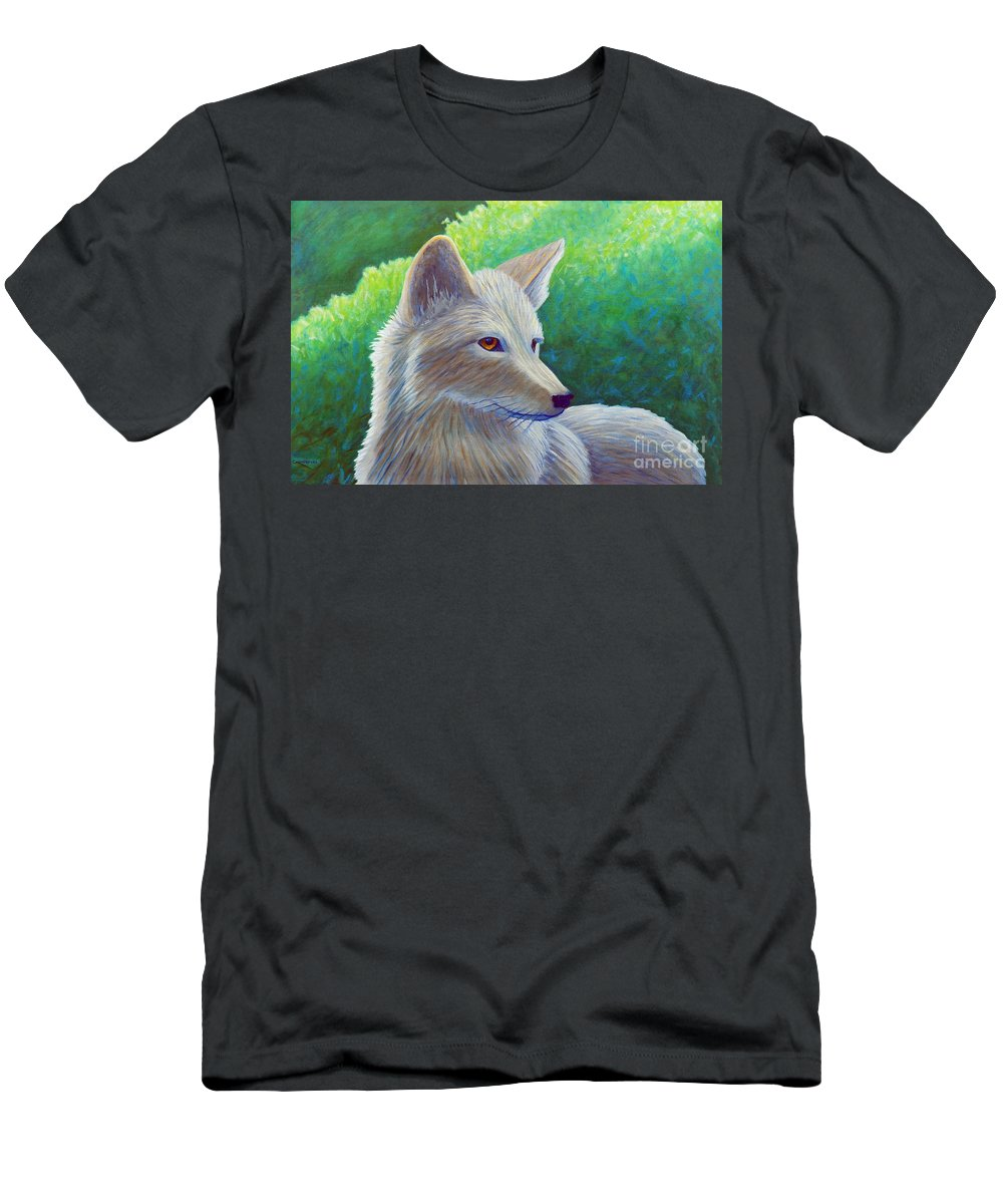Coyote Men's T-Shirt (Athletic Fit) featuring the painting Coyote Charisma by Brian Commerford