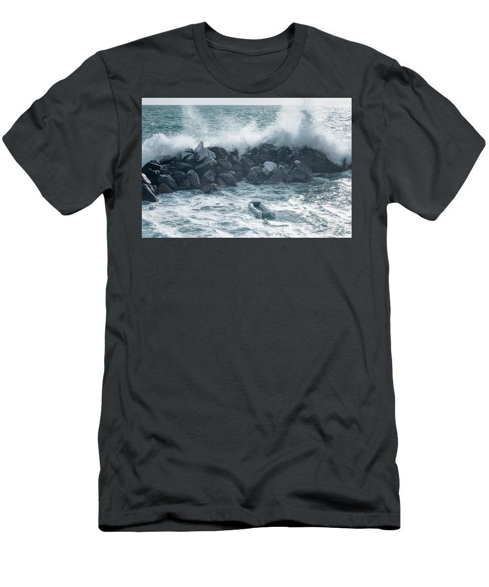 Joan Carroll Men's T-Shirt (Athletic Fit) featuring the photograph Crashing Waves by Joan Carroll