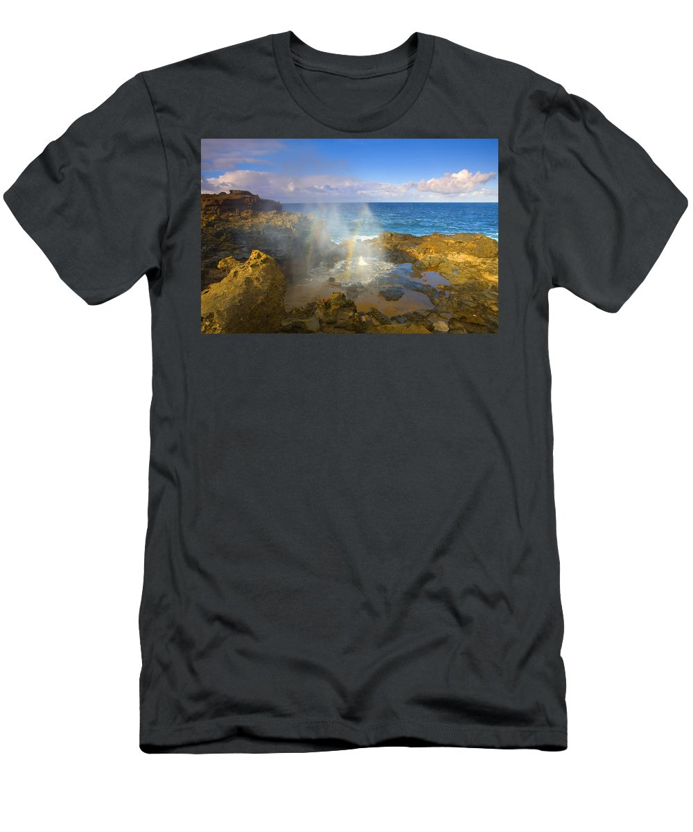 Blowhole Men's T-Shirt (Athletic Fit) featuring the photograph Creating Miracles by Mike Dawson