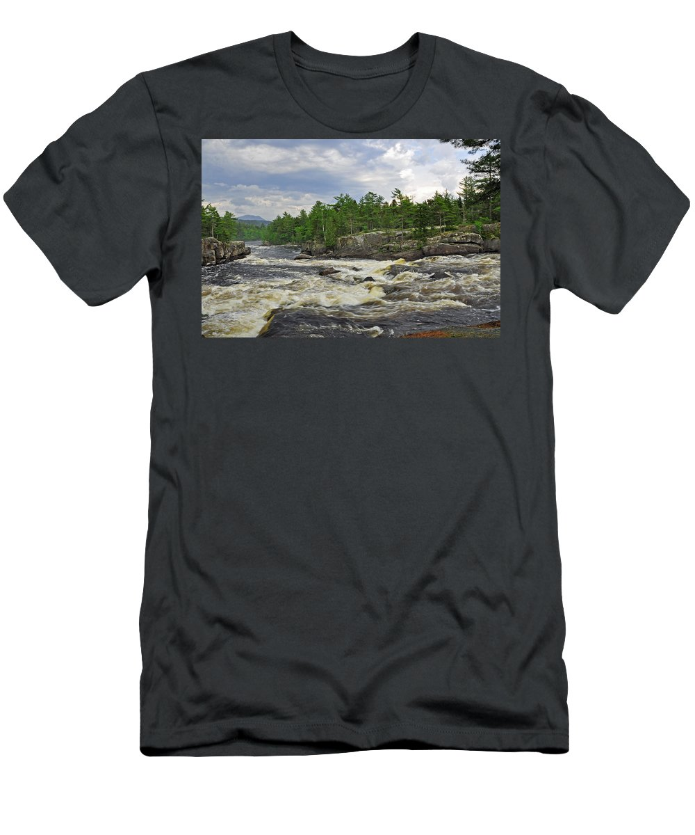Crib Works Men's T-Shirt (Athletic Fit) featuring the photograph Crib Works 2 by Glenn Gordon