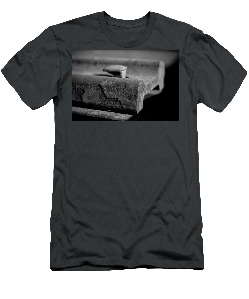 Black And White Photograph Men's T-Shirt (Athletic Fit) featuring the photograph Cross View by Mike Oistad