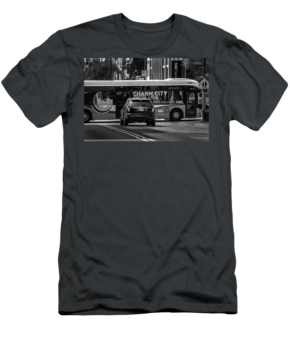 2017 Men's T-Shirt (Athletic Fit) featuring the photograph Crossing Traffic by Jim Archer