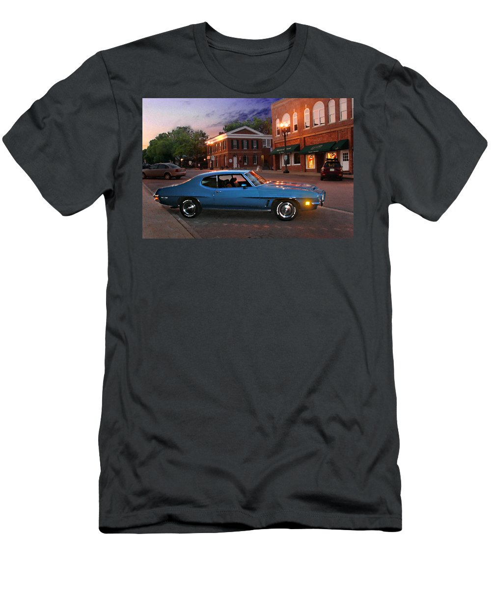 Landcape T-Shirt featuring the photograph Cruise Night in Liberty by Steve Karol