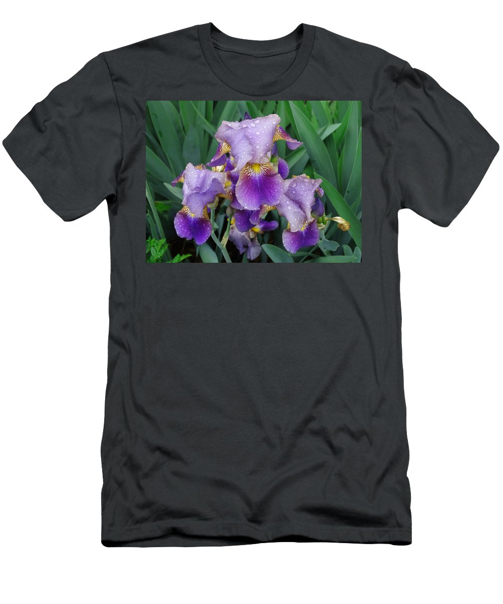 Flower Men's T-Shirt (Athletic Fit) featuring the photograph Crying Eyes by Greg Boutz