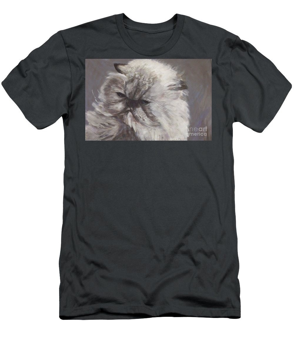 Himalayan Cat Men's T-Shirt (Athletic Fit) featuring the painting Cynthia by Elizabeth Ellis