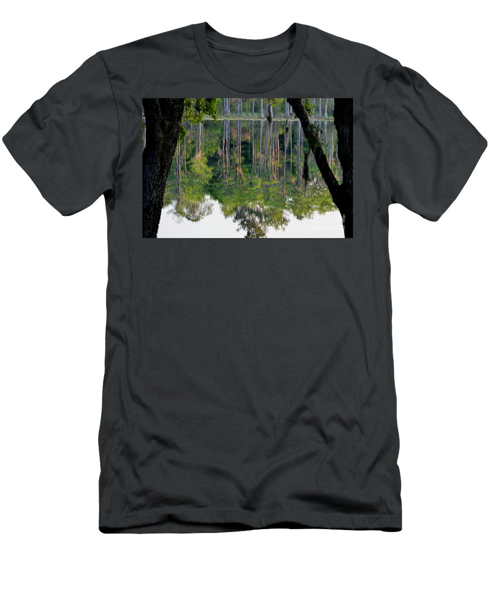 Pond Men's T-Shirt (Athletic Fit) featuring the photograph Cypress Pond by Jan Prewett