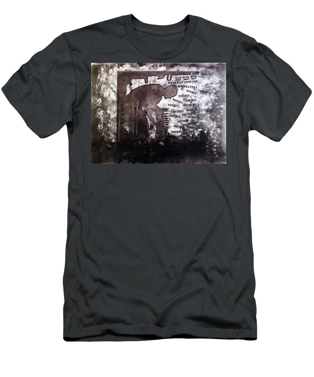War Men's T-Shirt (Athletic Fit) featuring the painting D U Rounds Project, Print 28 by Erik Paul