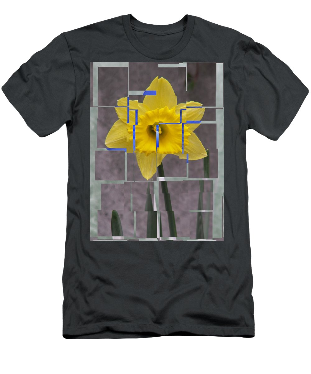 Flower Men's T-Shirt (Athletic Fit) featuring the digital art Daffodil 1 by Tim Allen