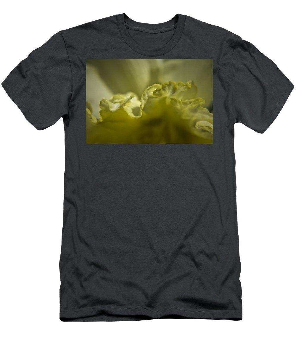 Flower Men's T-Shirt (Athletic Fit) featuring the photograph Daffodil Ruffles by Teresa Mucha