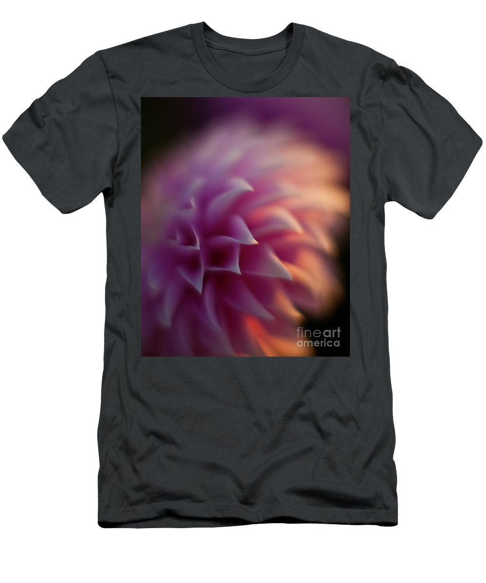 Dahlia Men's T-Shirt (Athletic Fit) featuring the photograph Dahlia Dusk by Mike Reid