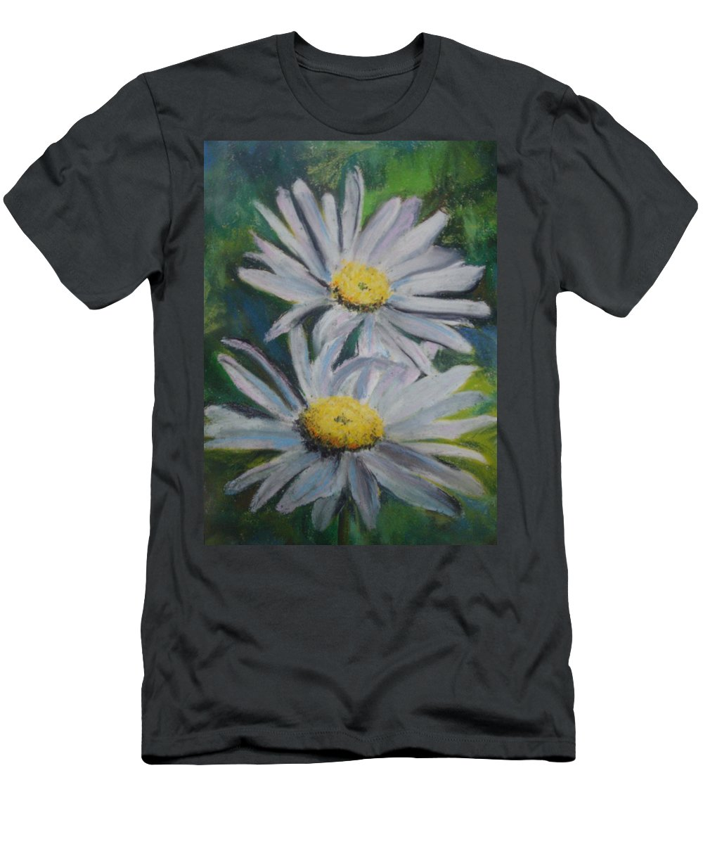 Daisies Men's T-Shirt (Athletic Fit) featuring the painting Daisies by Melinda Etzold