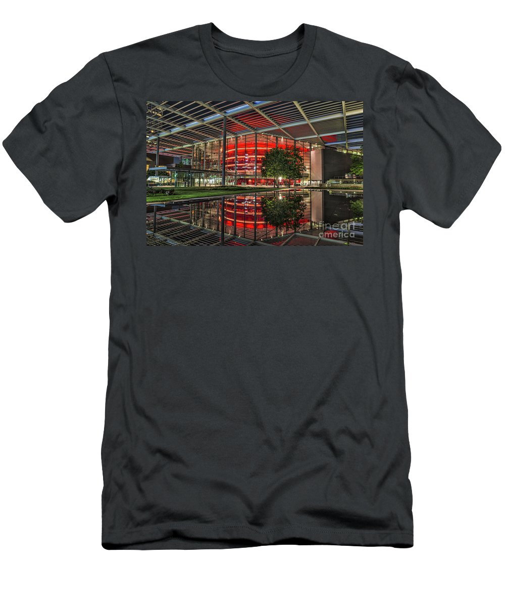 Dallas Men's T-Shirt (Athletic Fit) featuring the photograph Dallas Winspear Opera House by Tod and Cynthia Grubbs