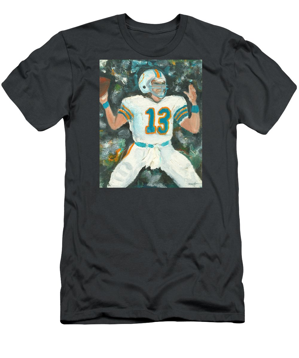 Miami Men's T-Shirt (Athletic Fit) featuring the painting Dan The Man by Jorge Delara