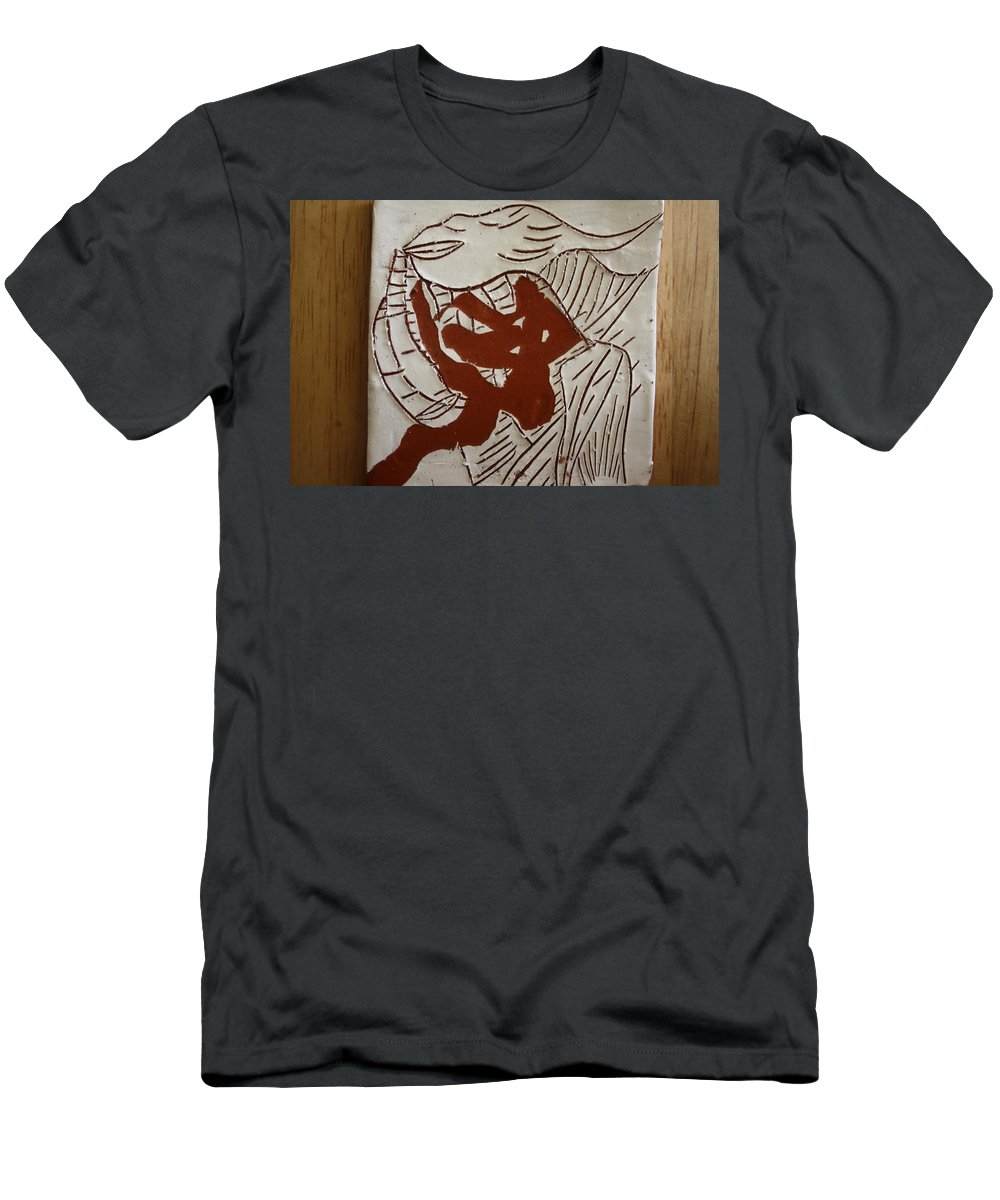 Jesus Men's T-Shirt (Athletic Fit) featuring the ceramic art Dance - Tile by Gloria Ssali